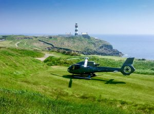 Helicopter on Old Head Golf Links Kinsale Cork Ireland